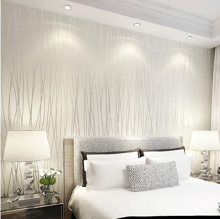 6194 colore solido banda verticale non tessuto carta da for Carta da parati moderna per soggiorno