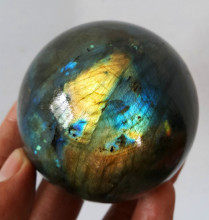 55-60MM High quality natural rock labradorite quartz crystal ball for home decoration