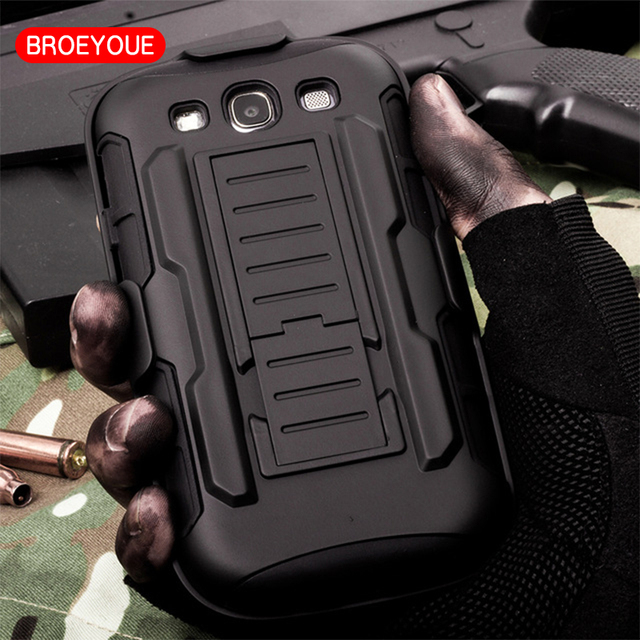 BROEYOUE Impact Hybrid Rugged Armor Case For Samsung Galaxy S3 Neo i9301 GT-I9301 SIII I9300 GT-I9300 Duos i9300i Phone Cover