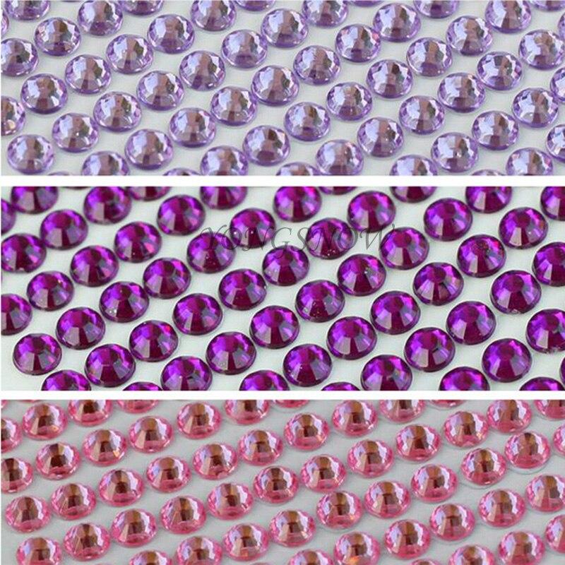 504Pcs / set 6MM akril labav vještački dijamant kristal flatback za - Umjetnost, obrt i šivanje - Foto 4