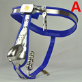 Male Chastity Belt Curve Waist Fully Adjustable Stainless Steel Chastity Belt with Penis Cage Anal Plug Sex Toy for Men G13