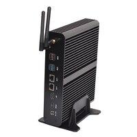Новые 7th Gen безвентиляторный мини ПК i7CPU 7660U 7500U Поддержка HDMI DP SPDIF Dual LAN SD DDR4 4 м Кэш до 4,0 ГГц мини компьютер HTPC