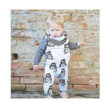Roupa Infantil Fashion Cute Clothes Baby Boy Animal Printing Baby Outfit Three Piece Spring T-Shirts Hallen Pants Roupa Infantil