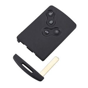4 Buttons Smart Remote Key Blank With Key With Blade FOB Key Case For Renault Koleos Clio Original Keys shell(China)