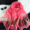 Gold Silk Scarf Women Cotton Scarves Pink Soft Shawl Fashion Large Size 200*70 Luxury Brand High-grade Patchwork Spring Pz38