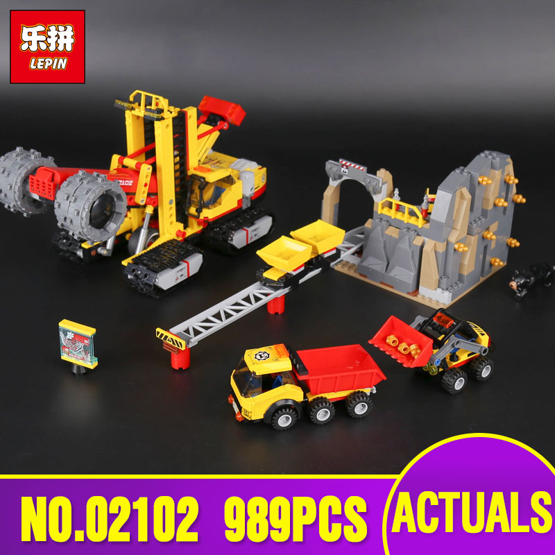 2018 Lepin 02102 The Mining Experts Site Set Compatible with 60188 City Bricks Building Blocks Kits Toys for Children gifts lepin city town city square building blocks sets bricks kids model kids toys for children marvel compatible legoe