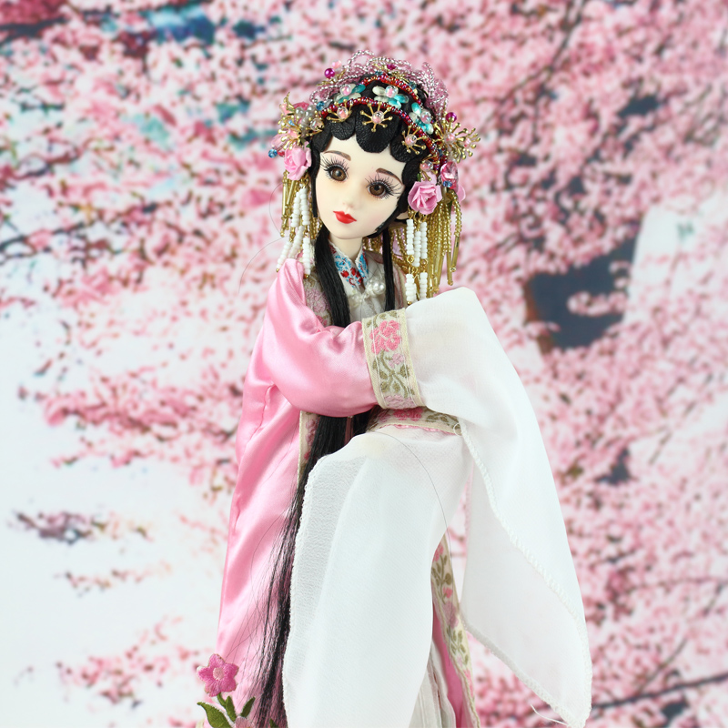 35cm Handmade Chinese Ancient Costume Dolls Peking Opera Lady Du Dolls BJD Girl Doll Toys Christmas Gifts handmade ancient chinese dolls 1 6 bjd jointed doll empress zhao feiyan dolls girl toys birthday gifts