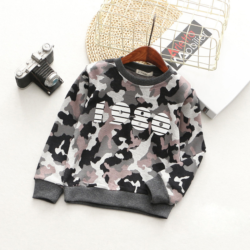 T-Shirts For Boys Girls Camouflage Cotton Kids Top Long Sleeve Toddler Pullover Clothes Digital Print T-Shirt Children Clothing (7)