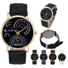 2018 New Fashion unique Watch Leather Strap outdoor Elegant Luxury Business Quartz Wristwatches