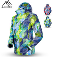Saenshing New Ski Jacket Men Winter Waterproof Snowboard Snow Jacket Super Warm Breathable Male Ski Clothing