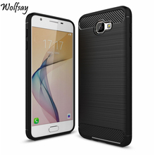Wolfsay For Samsung Galaxy On5 2016 Cover Soft TPU Brush Rugged Armor Back For Samsung J5 Prime Cover Shockproof Silicone Case