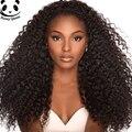 7А Glueless Фронта Шнурка Человеческих Волос Парики 250% Плотность Deep Вьющиеся бразильский Vrigin Волос Кружева Перед Парики Черные Женщины Вьющиеся Lace Wig