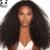 7A Glueless Del Frente Del Cordón Pelucas de Cabello Humano 250% Densidad Rizado Profundo Vrigin brasileña Del Pelo Del Frente Del Cordón Pelucas Negro Mujeres Peluca Rizada