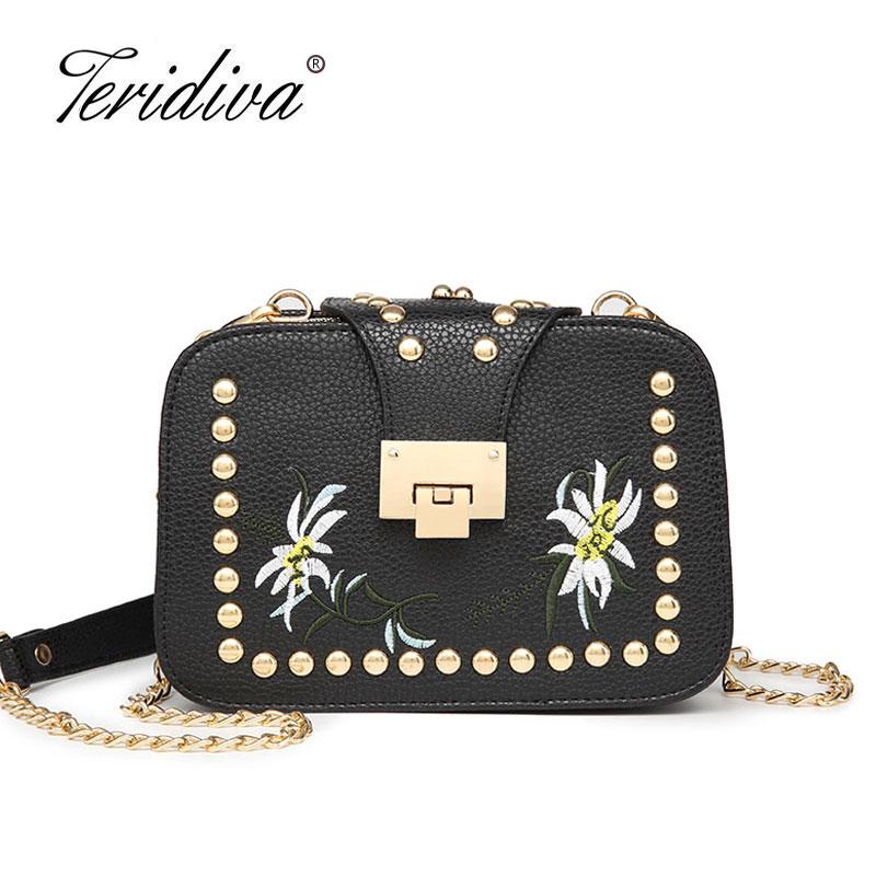 Teridiva Womens Handbag Messenger Bag Cross body Shoulder Bags Small Mini Crossbody Bags Ladies Chain Casual Satchel Purses