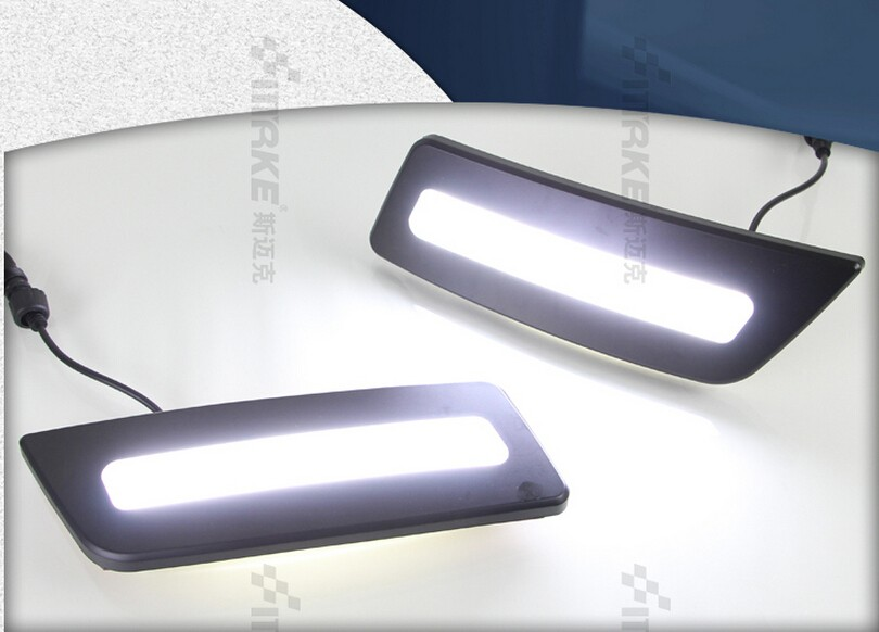 ФОТО LED Daytime Running Light fog lamp for for Ford ranger 2012-15, 100% waterproof top quality