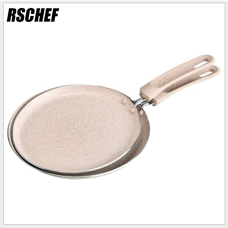 RSCHEF 6 8 inch Griddles Grill Copper Frying Pan with Aluminum Alloy Egg Cooking Pans