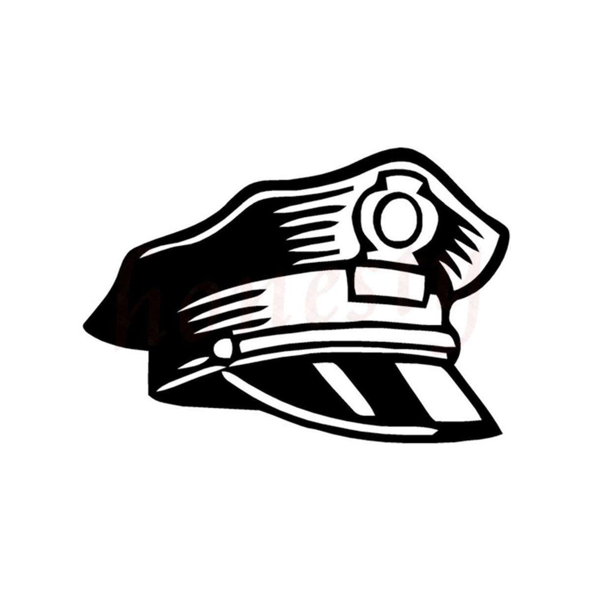 웃 유Policía sombrero patrón coche etiqueta de la pared de vidrio ...