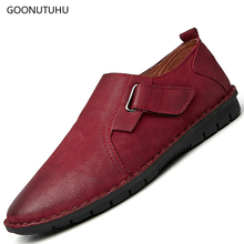 2019 new fashion men's casual shoes genuine leather cow loafers male youth driving breathable black & red platform shoes for men все цены