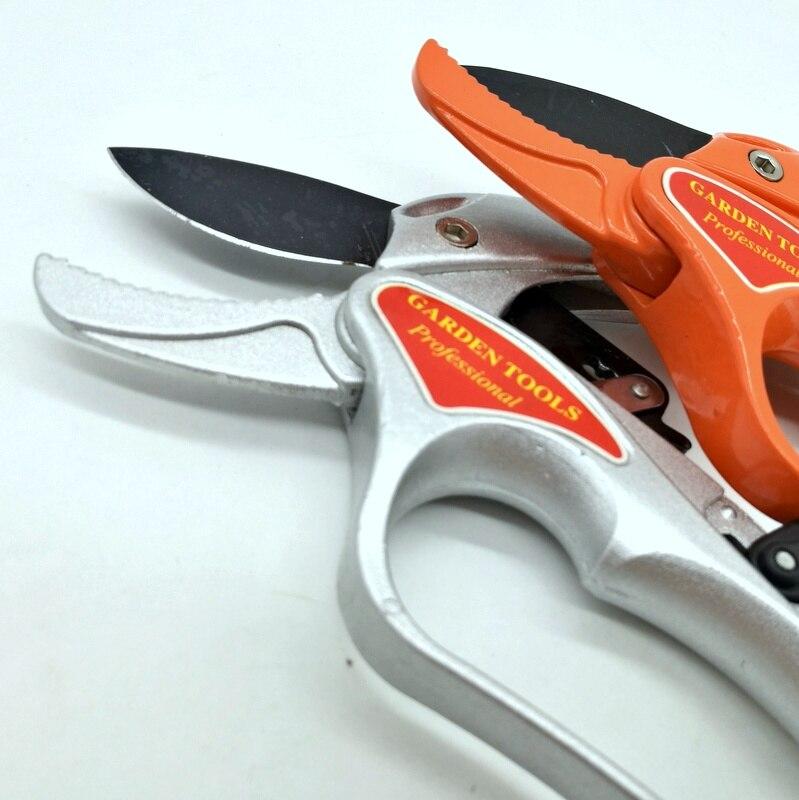 Aluminum Alloy Garden Tool Pruning Shear Scissors Fruit Ratchet Secateurs Cutting Branch Cutter 200mm Fresh branch 18mm SK5