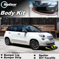 Bumper Lip Deflector Lips For Fiat 500L Trekking / Living / MPW Front Spoiler Skirt For TopGear Tuning / Body Kit / Strip