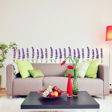 PA306 wall stickers lavender decoration personality living room bedroom cabinet door