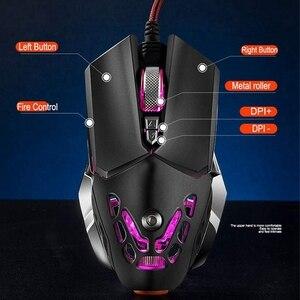 Image 2 - Botão 6 FELYBY Profissional Gaming Mouse Com Fio 2400 DPI LED Óptico USB Mouse de Computador Gamer Mice V9 Jogo Do Rato Para PC