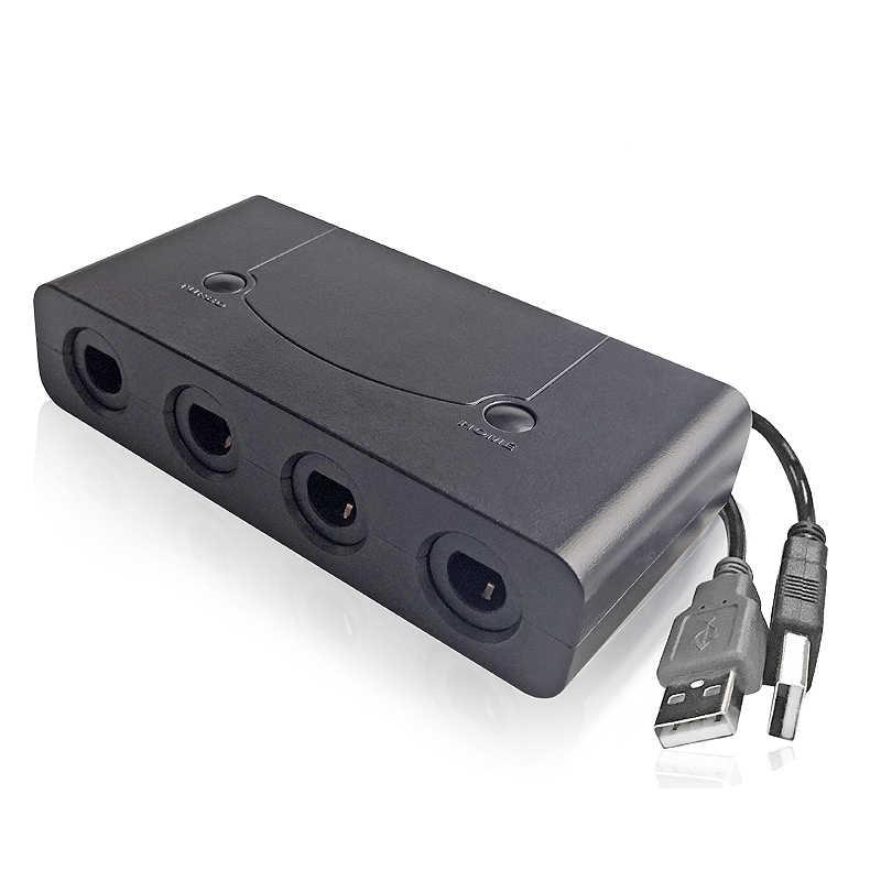 4 منافذ محول تحكم gamquibe GC USB وحدات تحكم محول لأجهزة الكمبيوتر نينتندو سويتش