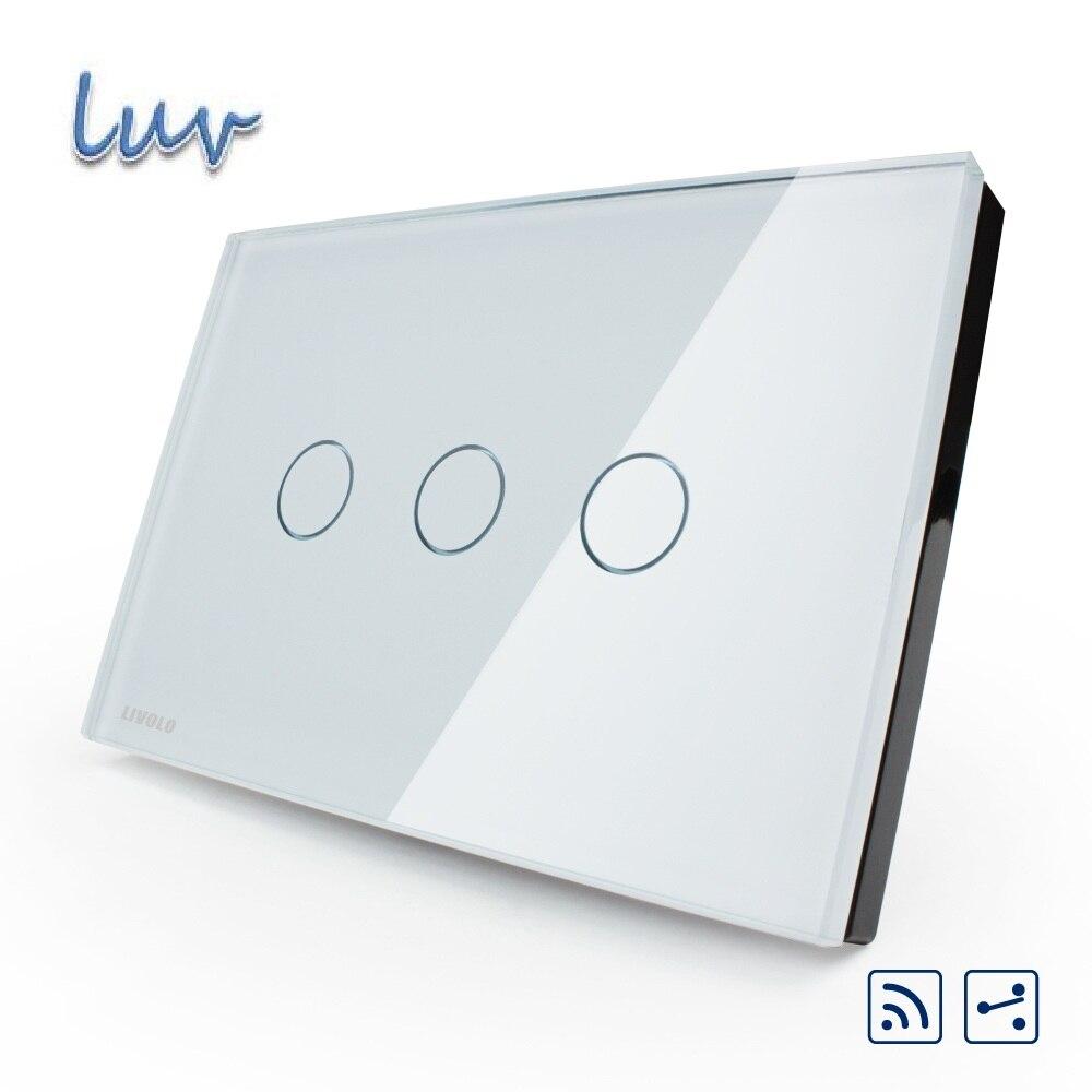 Smart Wall Switch US AU standard VL C303SR 81 3 gang 2 way Remote Touch Light