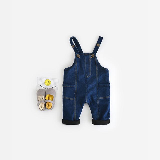 Primavera Outono inverno do bebê meninas meninos calças Jeans 2016 crianças crianças denim macacão meninas haroun calças calças grandes PP calças soltas calças de brim