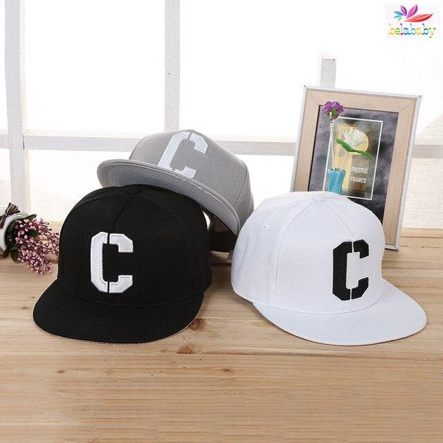 Belababy 2016 moda Niño Gorras de béisbol sombreros del SnapBack casterwear  letra