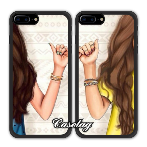 separation shoes 73291 f5dca US $4.99 |Finger Hook Girly BFF Best Friends Phone Case For Apple iPhone 7  6 6s Plus 5 5s SE 5c 4 4s For iPod Touch on Aliexpress.com | Alibaba Group