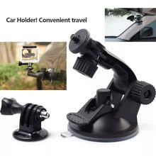 Action camera accessories Car Suction Cup Mount Holder Tripod Mount Adapter For Gopro Hero 4 3+ 3 sj4000 xiaomi yi(China)