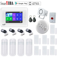 SmartYIBA 3g беспроводной Wifi Умный дом Охранная сигнализация с ip камерой приложение управление для IOS и Android система RFID охранная сигнализация