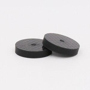 Image 4 - ISF0001 أسود الكربون الألياف عزل رئيس 25x5 مللي متر سبايك قاعدة سادة قدم حذاء ايفي 4 قطعة