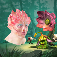 Europe Female Flower Demon Ghost Mask Boutique Beauty Terrorist Latex Headset Party Mask