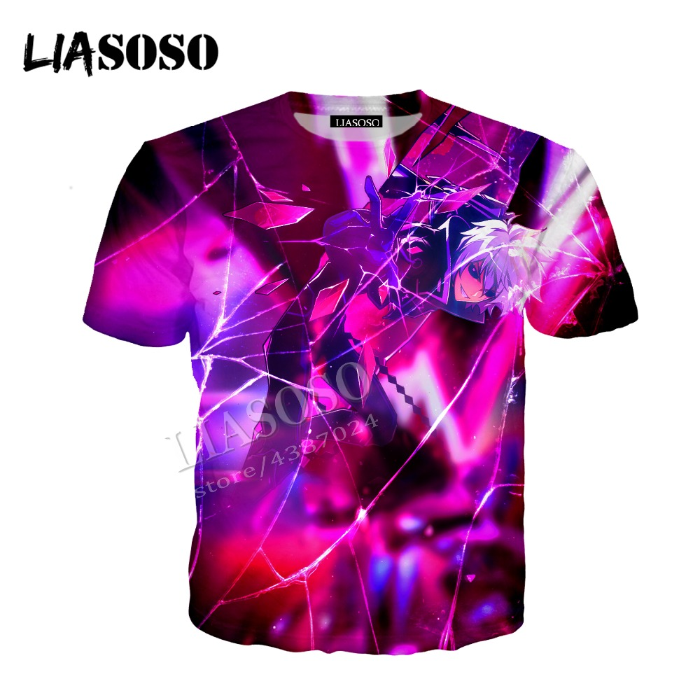 LIASOSO latest 3D printing comfortable polyester zipper hoodie Japanese anime dark broken soul men and women sportswear CX377