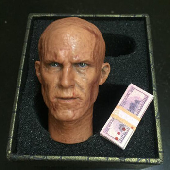 "1/6 Scale Male Man Boy Head Sculpt W Deadpool Ryan Reynolds War Damaged Ver. Figure Model For 12"" Male Action Figure Body"