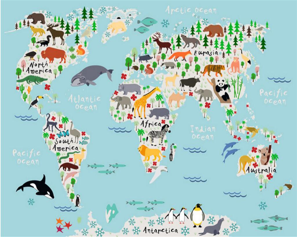 Beibehang custom photo wallpaper 3d cartoon world map wallpaper beibehang custom photo wallpaper 3d cartoon world map wallpaper living room bedroom wallpaper for walls 3 d papel de parede in wallpapers from home gumiabroncs Choice Image