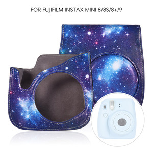 Image 4 - PU Protective Instant Mini 8 Case Camera photo Bag Pouch Protector with Strap for Fujifilm Instax Mini 8+/8s/8/9 Photo Case Blue