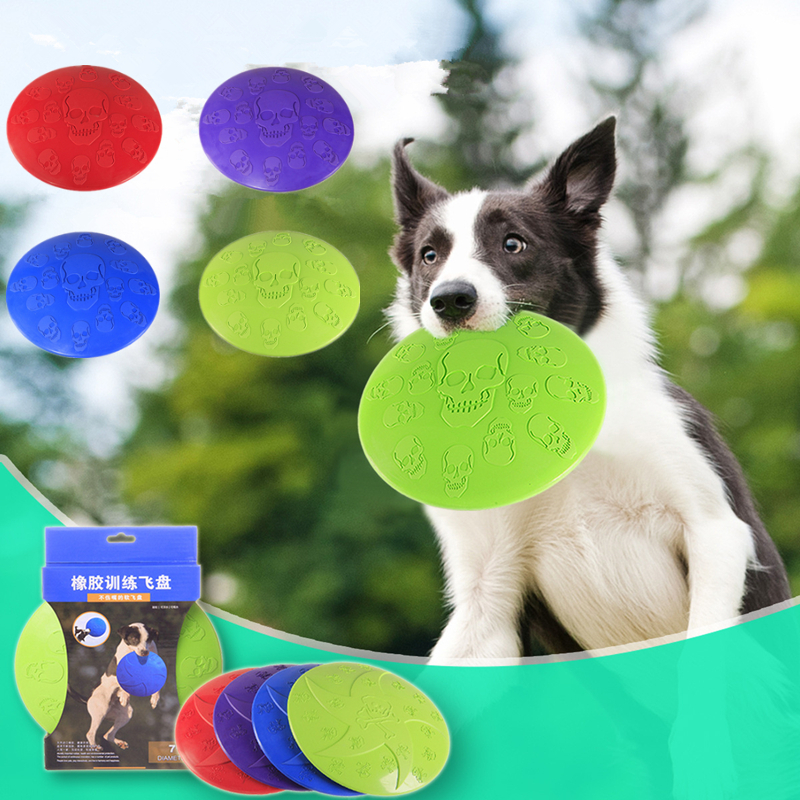1Pc Interactive Dog Chew Toys Resistance Bite Rubber Puppy Pet Toy for Dogs Pet Training Products Dog Flying Discs Popular Toys
