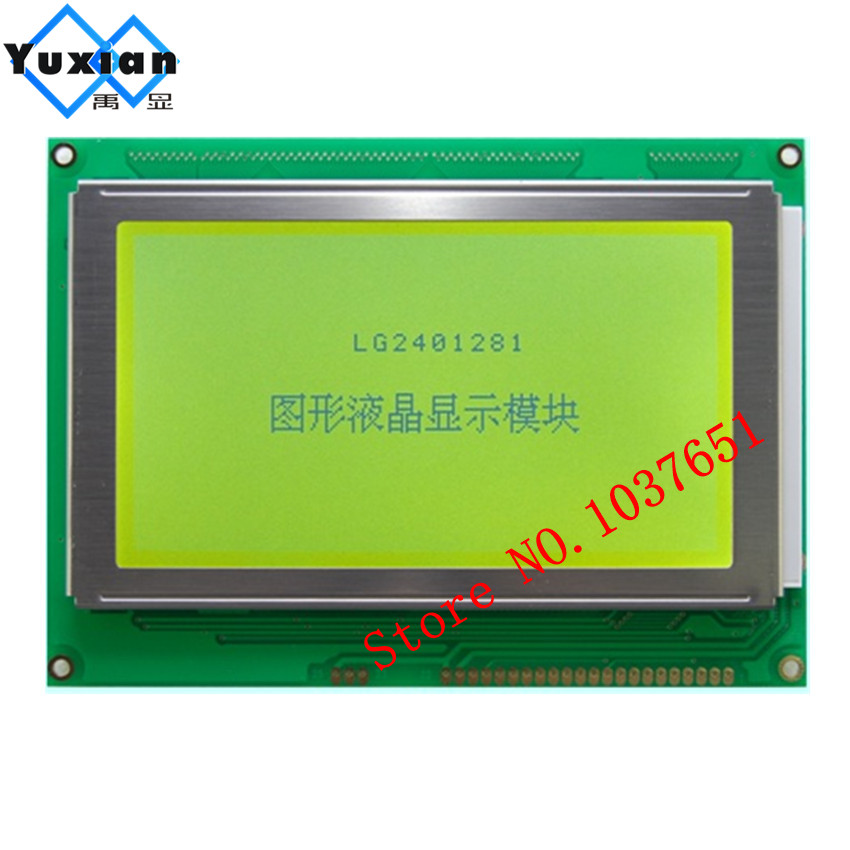 1pcs 5.1inch 240*128 240128 lcd display module T6963C  or UCI6963 5V green good quality LG2401281 industrial appplication lcd 1pcs 5.1inch 240*128 240128 lcd display module T6963C  or UCI6963 5V green good quality LG2401281 industrial appplication lcd