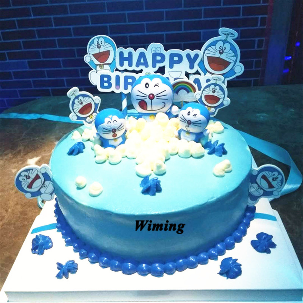 doraemon cake <font><b>topper</b></font> kids children boys toys for birthday party gifts baby first birthday decoration <font><b>cupcake</b></font> <font><b>toppers</b></font> <font><b>cat</b></font> image