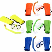 Swimming Diving Mask Breathing Tube Fins Water Sports Diving Rubber Children Swimming Snorkel Mask Goggles Glasses