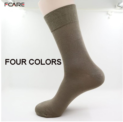 Fcare 10PCS=5 Pairs Black, Khaki, Dark Gray, Brown 43-46 Bamboo Fiber Long Leg Socks Bamboo Men Dress Business Socks Calcetines