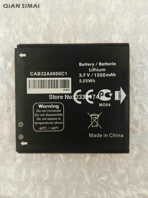 QiAN SiMAi 1pcs 100% High Quality CAB32A0000C1 1500mAh Battery For Alcatel One Touch 6010 OT6010 OT-6010 Phone + Tracking Code