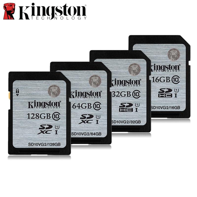 Kingston карты памяти 32 ГБ class10 64 ГБ 128 ГБ высокое Скорость SD карты SDHC 16 ГБ ка ...