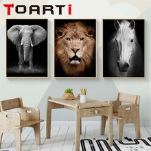 Lion Elephant Animal Posters Home Decor Wall Art Animal Canvas Painting Wall Pictures Print For Living Room Art Decoration