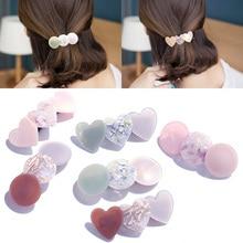 New Arrival 1pc Cute Heart Circle Shape Hairpin Charming Women Girls Wedding Barrettes Hair clip
