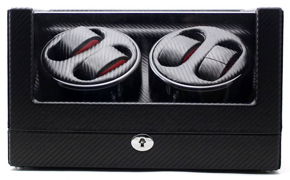 Mount Tibet Top Mute Motor4+0 Automatic Carbon Fiber Watch Winder Black ultra luxury 2 3 5 modes german motor watch winder white color wooden black pu leater inside automatic watch winder