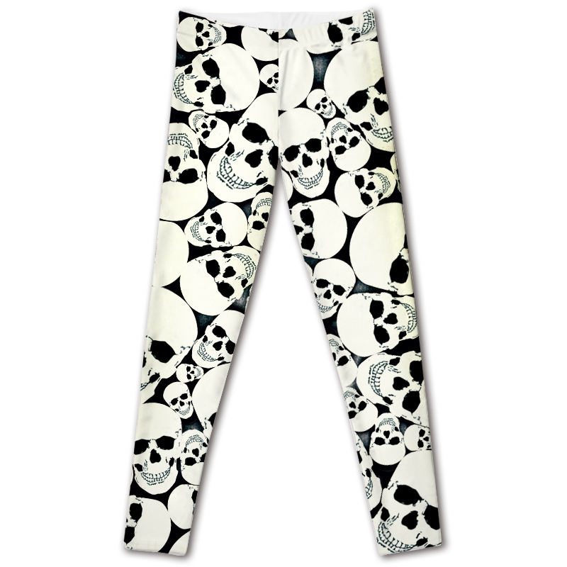 CANDICE ELSA leggings women workout female pants elastic font b fitness b font legging skull printed